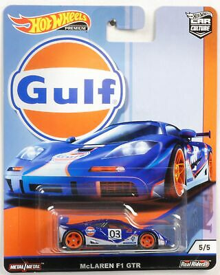 Gulf McLaren F1 GTR 1:64 Car culture Real Riders Hot Wheels NEU FPY86