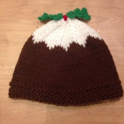 HAND KNITTED CHRISTMAS Pudding Baby Hat (9-12 Months) - £6.00 ... 11471b6ffd3d