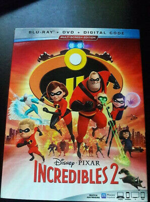 The Incredibles 2 Blu-Ray and DVD (Digital Code not included)