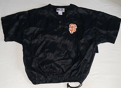 buy popular baadc 63f06 SAN FRANCISCO GIANT BP Jacket XXL 2XL Russell VTG 90s Batting Practice  Black MLB