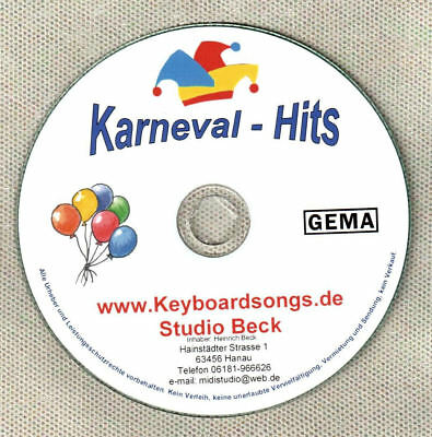 Midifiles KEYBOARDSONGS Karneval Spezialausgabe
