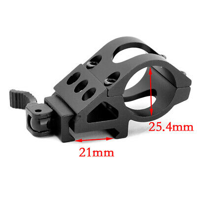 QD Quick Release Torch Mount 30mm ring mount 45 Degree For Flashlight Laser Lamp