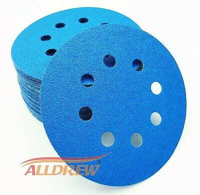125mm Wet and Dry Sanding Discs 5in Abrasive Pads Hook and Loop Sandpaper 8 Hole