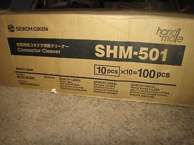 NEW (LOT of TEN) *SEIKOH GIKEN* Handi-Mate SHM-501 Connector Cleaner
