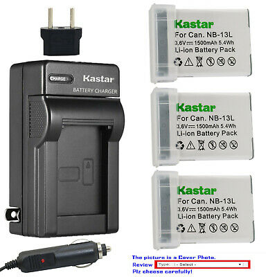 Kastar Battery Travel Charger for Canon NB-13LH CB-2LH Canon PowerShot SX730 HS