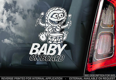 Baby on Board - Car Window Sticker - Animal The Muppets Bumper Baby Sign Gift