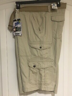 ccea3ec60f Men's Plugg Cargo Shorts Color- Ant Wheat Size 50 With Belt New Retails $62