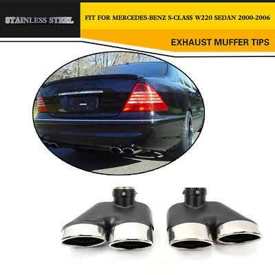 Rear Exhaust Tips Tailpipe Ends  for Mercedes Benz W220 S Class 2000-2006