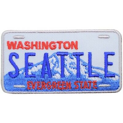 Seattle Patch - Washington State License Plate, Evergreen State (Iron on)