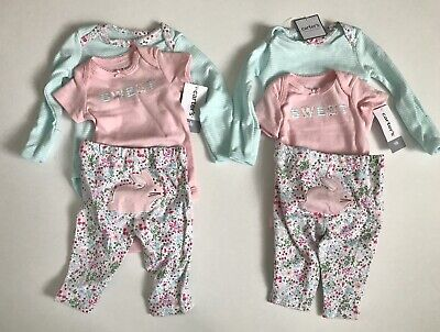 2d8ae051d NEW Carters Newborn Twin Girls Outfit Set, 6 Piece Lot, Bunny, Easter