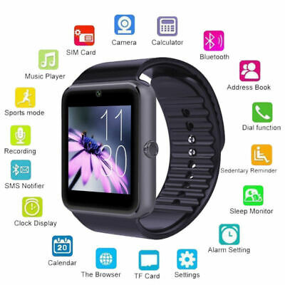 Bluetooth GT08 Reloj Inteligente Smart Watch para Android IOS iPhone HTC