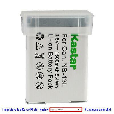 Kastar Replacement Battery for Canon NB-13L CB-2LH & Canon G1 X Mark III Camera