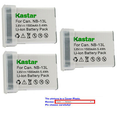 Kastar Replacement Battery for Original Canon NB-13L NB13L NB-13LH 13LH Battery