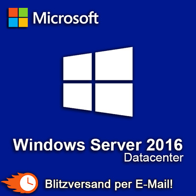 Windows Server 2016 Datacenter Produktkey Retail Blitzversand