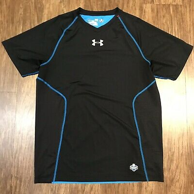 Mens Under Armour NFL Combine Athletic SS Shirt Size LARGE Fitted  Compression 251e9456b