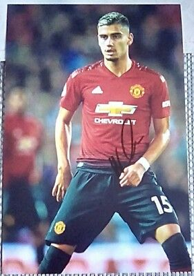 28041255d MANCHESTER UNITED ANDREAS Pereira hand signed photo 12x8 - £1.99 ...