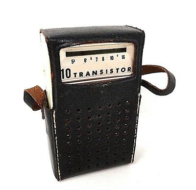 60's Vintage - Candle 10 Transistor Radio w/Leather Case - Japan