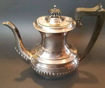 Sheffield England EPNS Silver-Plated Tea Pot Vintage 33576