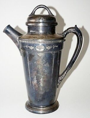 1928 US Silver Plated Cocktail Shaker Pitcher by Reed Barton  (Ren)