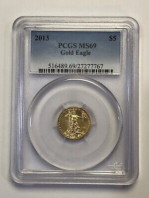 2013 $5 American Gold Eagle-PCGS Graded MS69 1/10