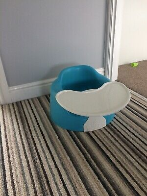 Blue Bumbo Seat With Tray, Good Used Condition