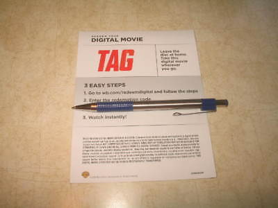Tag (DVD, 2018) **CANADIAN DIGITAL CODE ONLY** **READ**