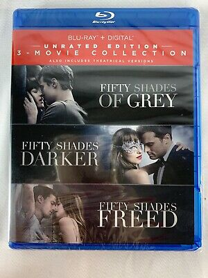 BLU-RAY Fifty Shades 3-Movie Collection Grey Darker Freed Unrated Edition