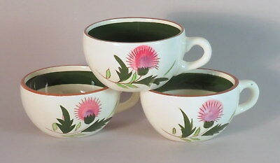 Stangl Thistle Cups  Set of 3 Coffee Cups  No Saucers MCM China