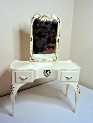 SINDY teen fashion doll house Vintage  DRESSING TABLE Bedroom Furniture 1:6 ***