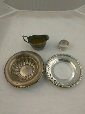 Lot Of Four Mixed Scrap Sterling Silver Pieces 200+ Grams