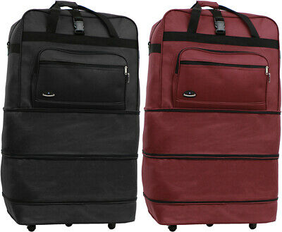 """36"""" Expandable Rolling Duffle Bag Wheeled Spinner Suitcase Luggage Heavy Duty"""