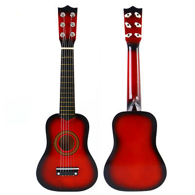 21 Inch Acoustic Guitar Small Size Portable Wooden Guitar for Children Kids