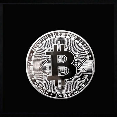 Bitcoin Commemorative Round Collectors BTC  Physical Coin (Sivler) E6
