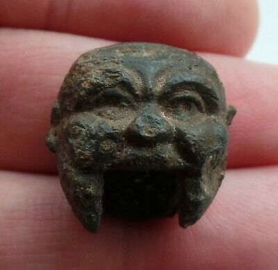 A very rare miniature lead toy head - Detecting find from Amsterdam - 19th. cen.