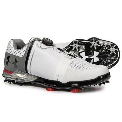 4af819ffaec6fd Under Armour Spieth One Boa Golf Shoes New Men s Size 11.5 Wide White black