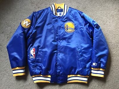 Starter Nba Basketball Golden State Warriors Satin Team Jacket Size Xl Royal 92bf42ef5