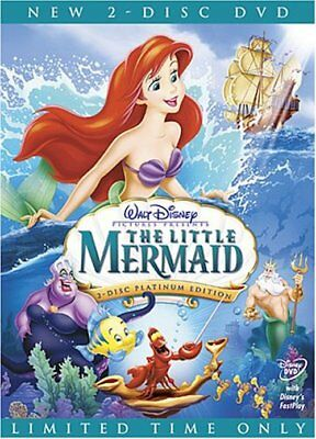 The Little Mermaid DVD 2-Disc Set Platinum Edition comes w/ Slipcover Free Ship!