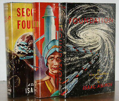*Signed* 1St/1St/1St Editions, W. Org Jackets~Foundation Trilogy ~Isaac Asimov
