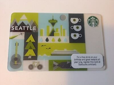 Starbucks 2011 Seattle City Card - Mint - Limited Addition - No value