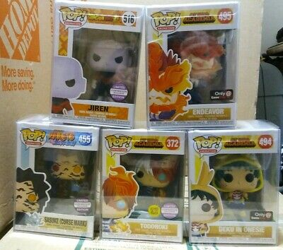 Lot Of 5 Funko Pop Anime My Hero Academia, Dragon Ball Z & Naruto Exclusives...