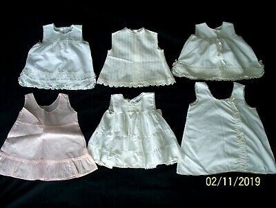 Vintage Lot Infant Baby Dresses Slips Organdy Lace Tagged~ Pemay~ Her Majesty~