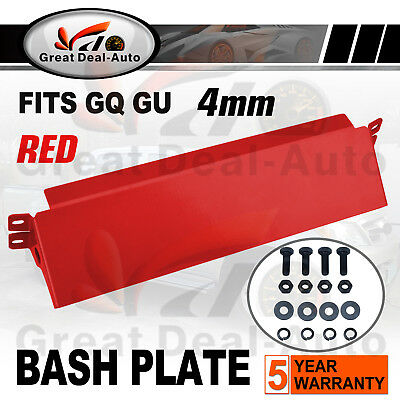 Fit for Nissan Patrol GQ GU Steel Bash Plate Steering Guard Protect 4mm RED