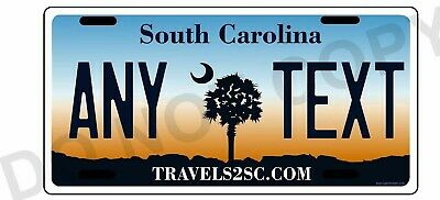 South Carolina License Plate Personalized Custom - 3 x 6 bicycle tag