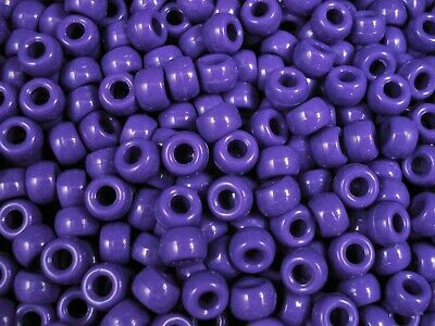 Pony Beads 9x6mm Dark Purple 500pcs Bulk Pack Kids Hair Party Fun FREE POSTAGE