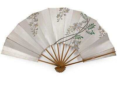 Vintage Japanese Kyoto Odori 'Maiogi' Folding Dance Fan Original Box: Feb 19-M