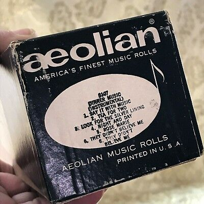 "Aeolian Player Piano Roll ""DINNER MUSIC"" Six Titles. No.6107  V.Good Condition!"