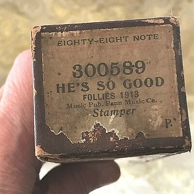 "Eighty-Eight Note Player Piano Roll  ""He's So Good"" No.300589 Good Condition."