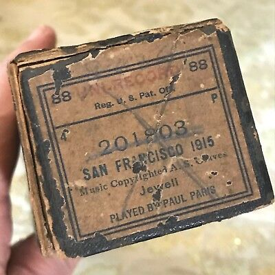 "Uni-Record Piano Roll ""San Francisco 1915""  No. 201803  Good Condition!"