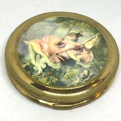 Vintage Powder Compact Sophisticated Lady, Joyfully Swinging. Collectible!