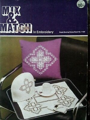 embroidery pattern book complete with unused patterns and transfers